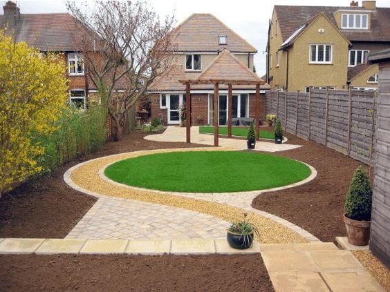 Garden landscape - love the circle of grass