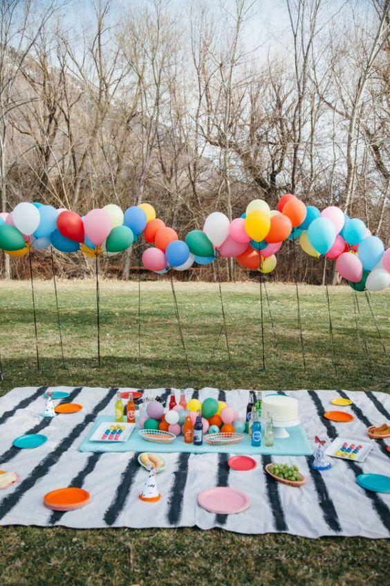 Las Mejores Fiestas Infantiles Al Aire Libre 30 Fotos Fiestas Infantiles Al Aire Libre Fiestas Picnic Para Niños Cumpleaños En Parques