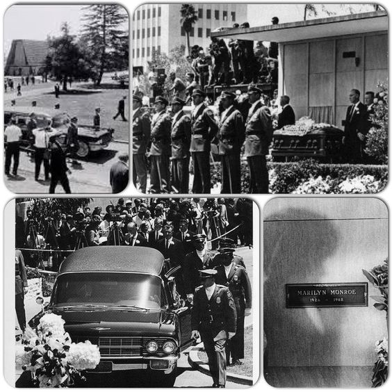 Marilyn's funeral, at Westwood Cemetery. August 8, 1962