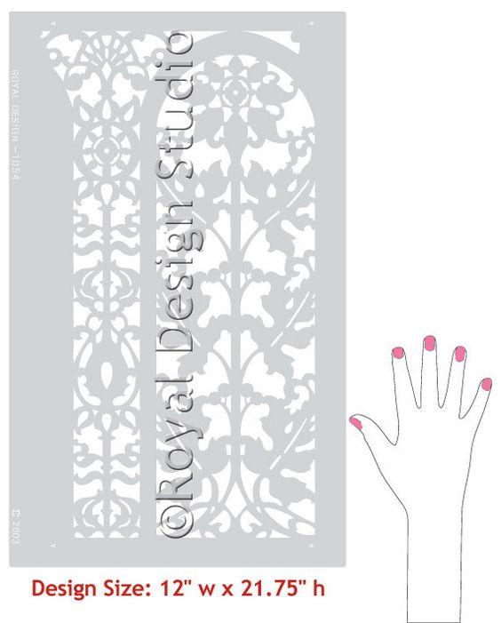 Studios kitchen backsplash and stencil designs on pinterest for Classic border design