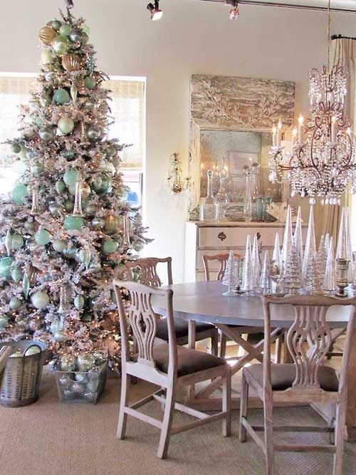 So Elegant In White And Aqua Christmas Trees Pinterest