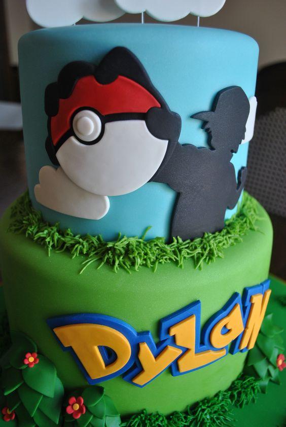 Pokemon Go themed birthday cake