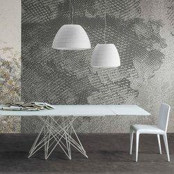 Ausziehbarer Tisch Octa Octa kommt vom griechischen Wort okta, das acht bedeutet. Das ist Anzahl der Beine des Tisches, der von Bartoli Design für..