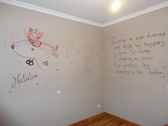 murales y siluetas de ratoncitos y conejitos para ...