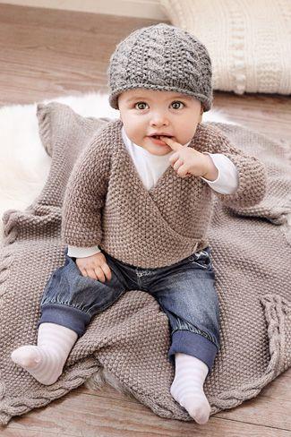 Strickanleitung+zum+Babyjäckchen+stricken