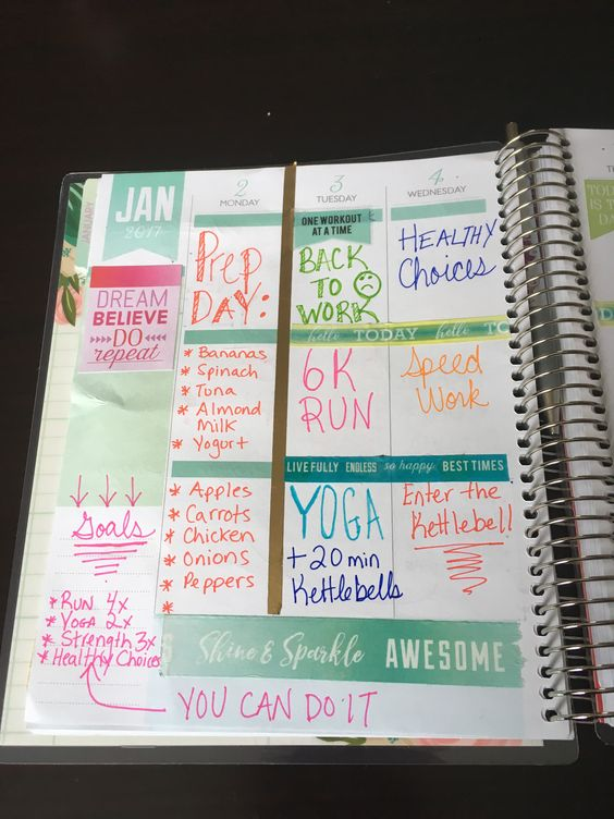 Planning for an ACTIVE 2017 with the Michaels Recollections® Creative Year Planner