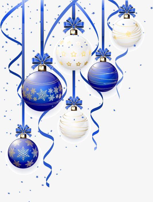 Blue White Christmas Balls Vector Material Blue Ribbon Christmas Vector Balls Vector Christmas Drawing Watercolor Christmas Cards Christmas Ephemera