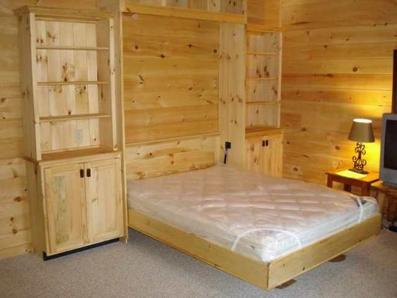 Unique Queen Size Murphy Bed Design Ideas With White