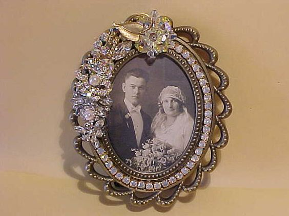 Wedding Picture Frames Wedding Pictures And Vintage Jewelry On Pinterest