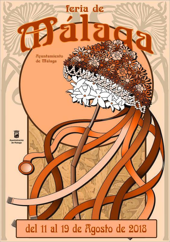 Cartel Finalista Feria de Malaga 2018. Titulo: La Verdinaga