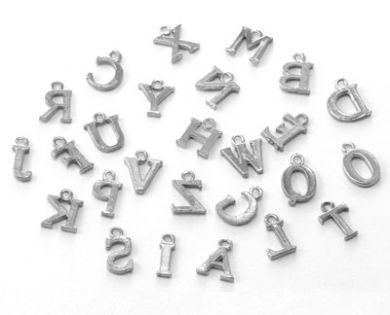 Alphabet Charms. A-Z Great for crafting and beading.
