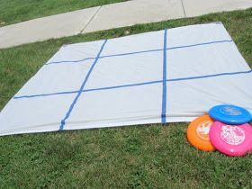 Frisbee Tic Tac Toe - Life With 4 Boys: 10 Camping Games for Outdoor Fun!