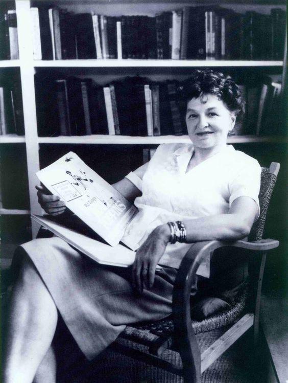"Pamela Travers; author of ""Mary Poppins""."