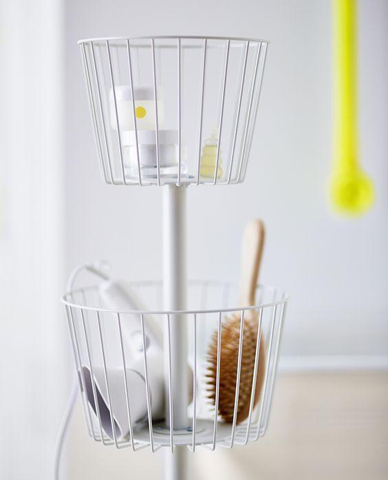SPRUTT storage baskets, designed to make the morning routine that little bit easier. #IKEA #SPRUTT #storage