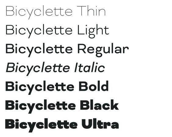Bicyclette Type Family