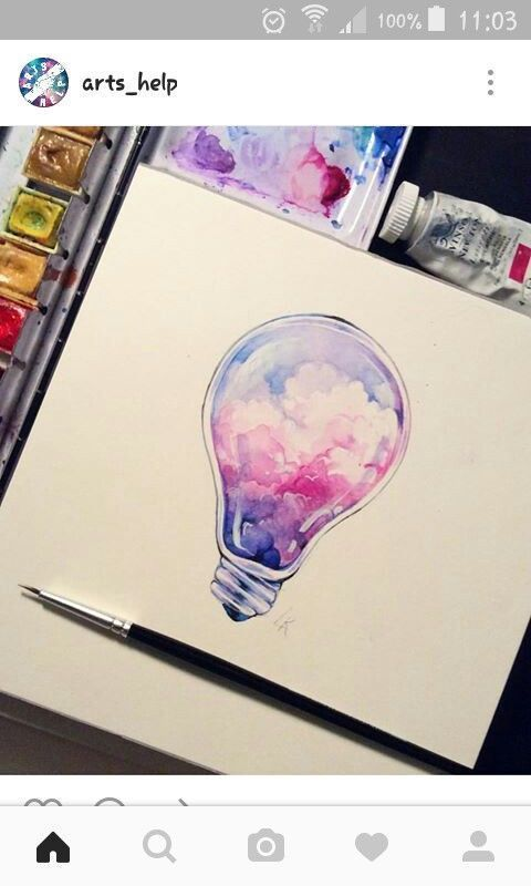 Pastel Daydreams Watercolor Print Moon Art Crystal