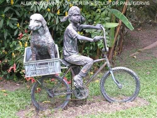 Bronze #sculpture by #sculptor Jill Tweed titled \u0027Terrier (Bronze