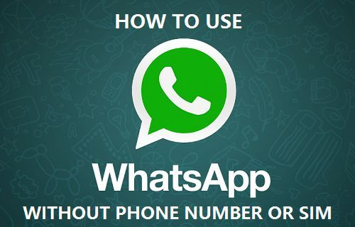 How To Use Whatsapp Without Phone Number Or Sim Phone Numbers