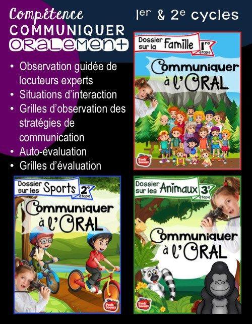 Communiquer à l'oral: cycles 1 et 2 / Observation guidée de locuteurs expérimentés, Situations d'interaction, Grilles... Profs et Soeurs