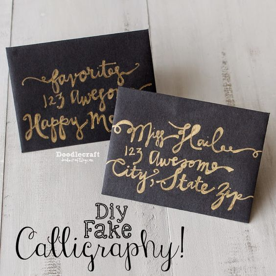 How To Fake Script Calligraphy Faux Scripty Gorgeous