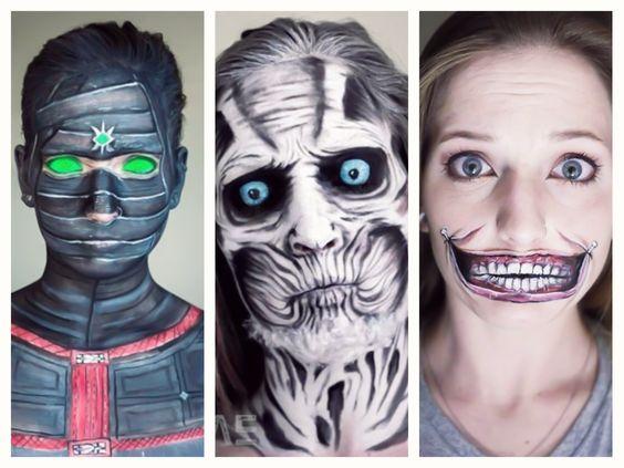 A maquiagem fantástica e bizarra de Elsa Rhae