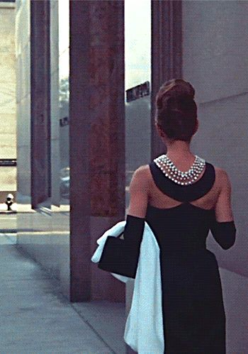 Audrey Hepburn on the 'Breakfast at Tiffany's' set, 1961.:
