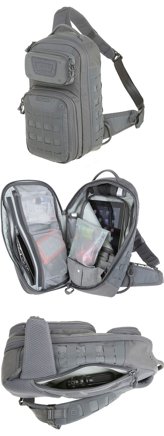 The GRIDFLUX™ sling pack from the Maxpedition Advanced Gear Research line can be used for commuter travel or concealed carry. http://www.maxpedition.com/store/pc/viewPrd.asp?idproduct=9205