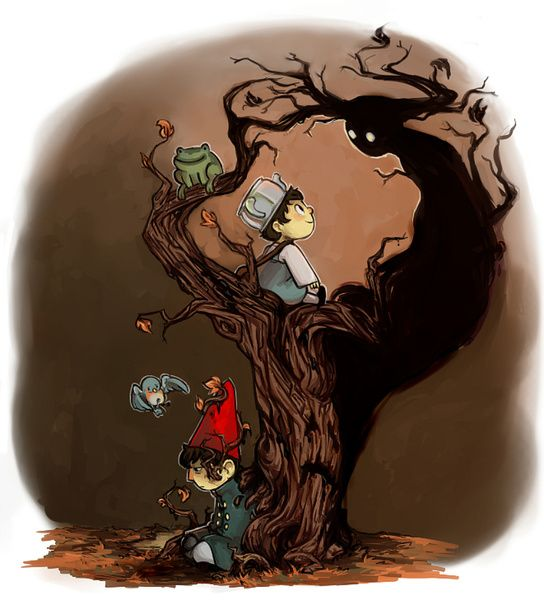 Over The Garden Wall Wirt Greg Beatrice And The Beast Art Print Pinterest Gardens Over