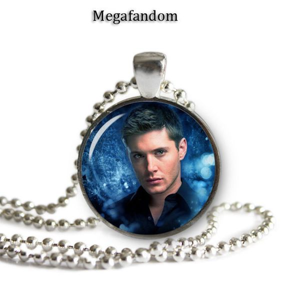 blue dean winchester pendant necklace silver plated