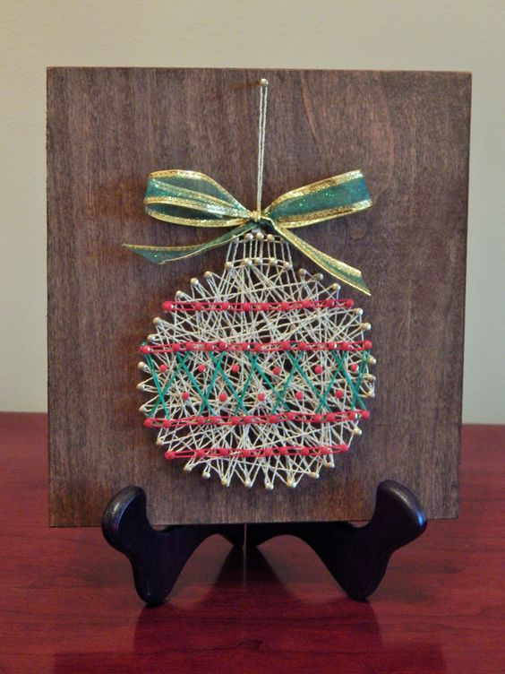 String art art and ornaments on pinterest - String ornaments christmas ...