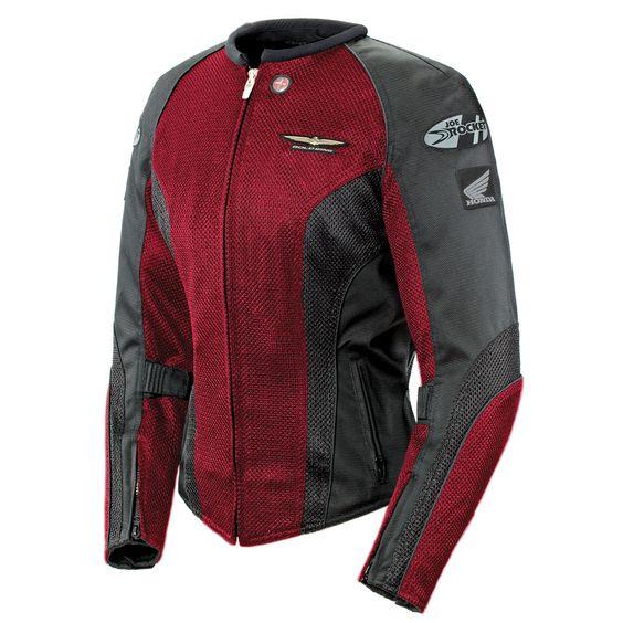 Joe Rocket 'Skyline 2.0' Womens Wine/Black Mesh Motorcycle Jacket - LeatherUp.com