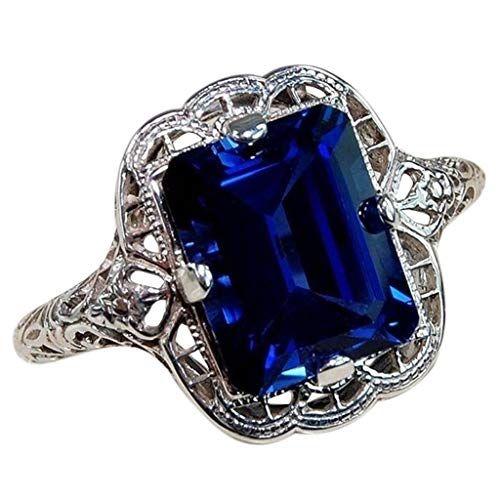 Vintage Rings,Keepfit White Diamond Jewelry Wedding Band Engagement Rings