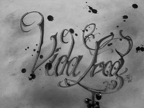 Vida Loca, Sketch, ink on paper by #graffiticoncepts