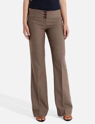 Cassidy Button-Tab Classic Flare Pants from THELIMITED.com