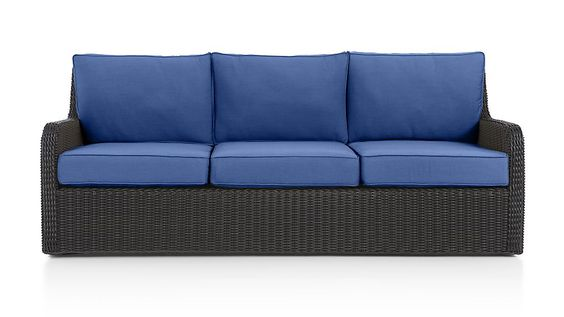 Calistoga Sofa with Sunbrella ® Cushion | Crate and Barrel  $1499 33h34d82l, for the grill seating area