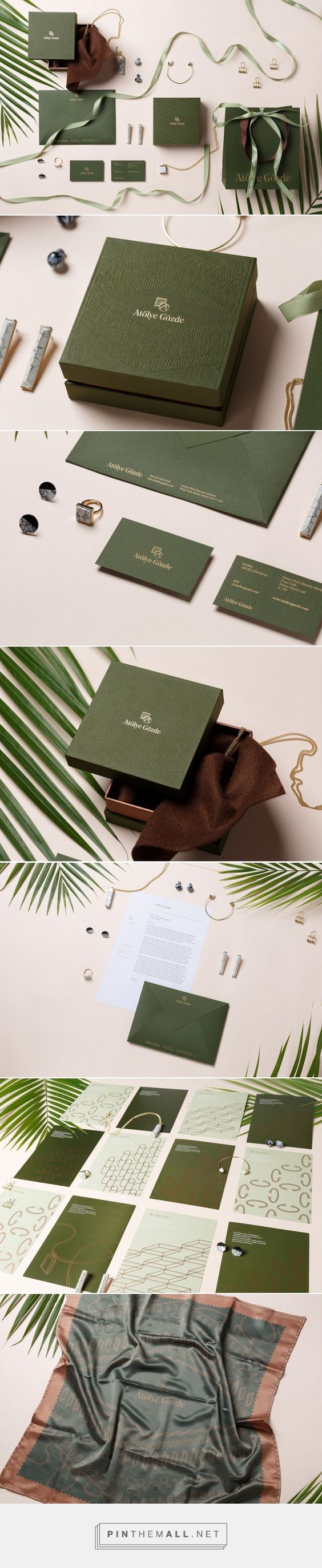 Branding, fashion and packaging for Atolye Gozde Branding on Behance by Frames Hong Kong, Hong Kong curated by Packaging Diva PD. A brand of empowering, unique jewellery by the Turkish designer Yasemin Gözde.