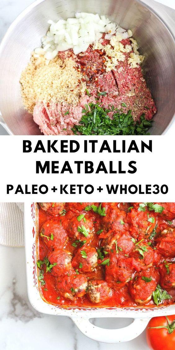 Italian Meatballs - Keto/Paleo/Gluten Free - The Bettered Blondie