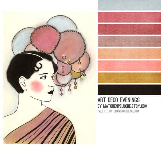 Matouenpeluche palette art deco pinterest blush for Art deco colours