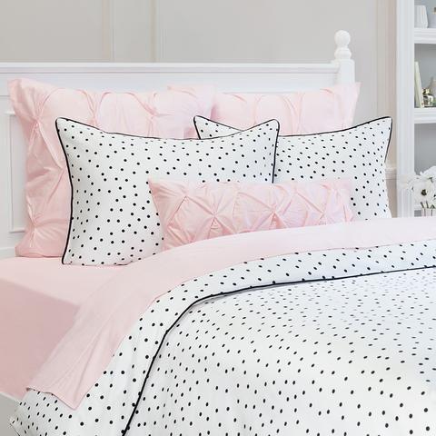 Polka Dot Bedding The Black And White Harper Crane Canopy Pink Bedroom Decor White Duvet Covers Bedroom Design