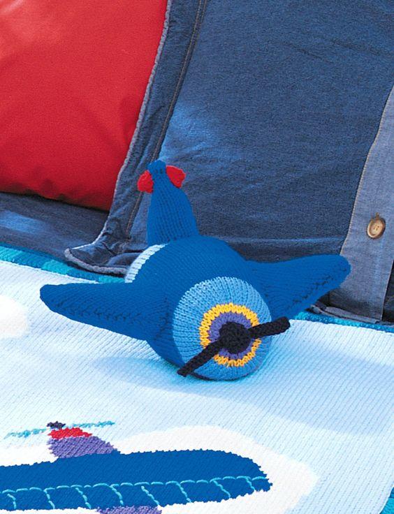 Patons Knitting Patterns Toys : Gratis breipatroon! Yarnspirations.com - Patons Airplane ...
