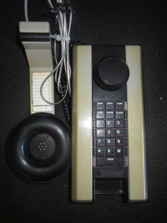 Vintage 80's style Telequest Telephone Phone Softel Plus Rare 1986 Kitschy Mod kookykitsch.com