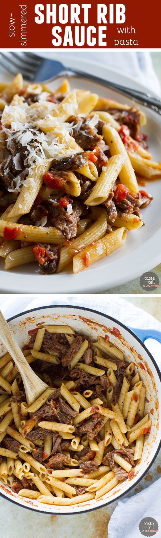 in an easy tomato sauce for this Slow Simmered Short Rib Sauce ...
