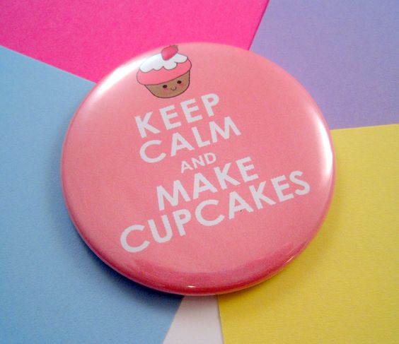 Pocket Mirror - Keep Calm and Make Cupcakes - 2.25 Inches - Party Favor, Bridesmaid Gift, Shower Favor, Wedding Favor. $3.25, via Etsy.