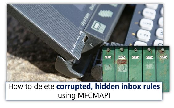 How to delete corrupted hidden Exchange inbox rules using MFCMAPI - http://o365info.com/delete-corrupted-hidden-exchange-inbox-rules-using-mfcmapi/