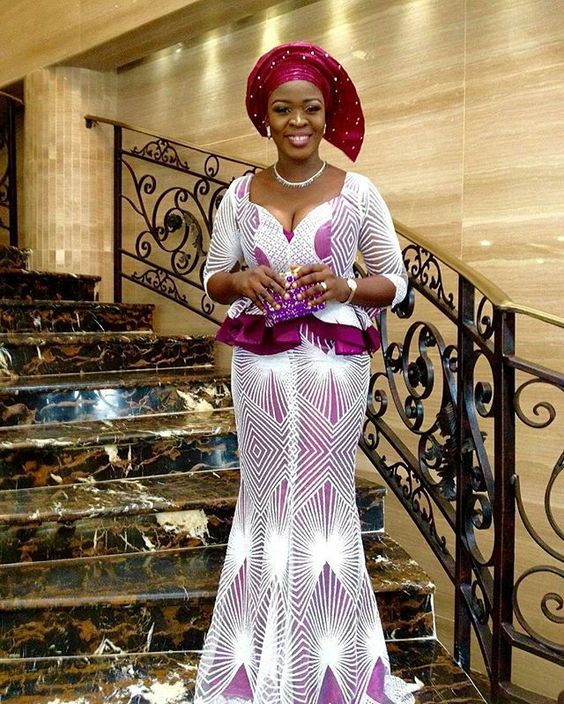 Beautiful ownanbe guest Dress @shawlercouture Makeup and gele by @wow_facesbymoyo_makeovers: