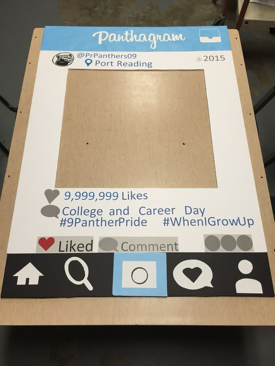 Photo board for college and career day at school. Every student took a pic behind it. Used green screen for some to make it even better