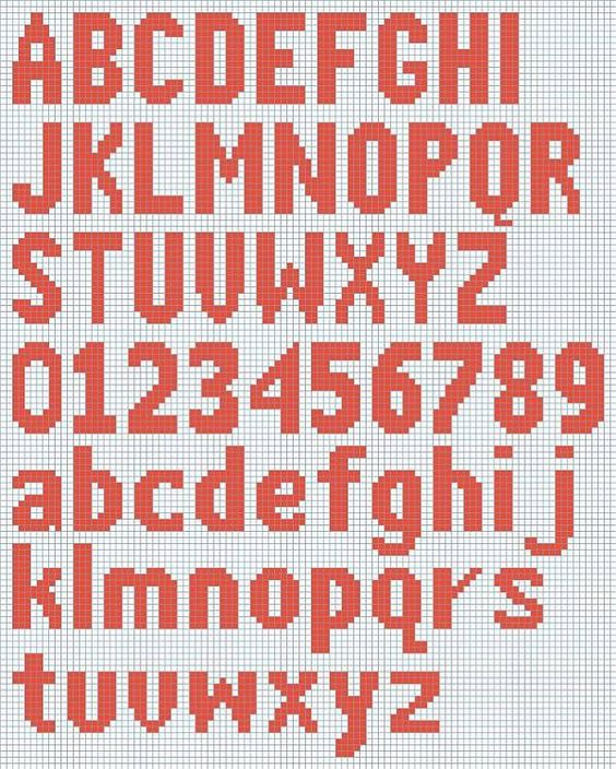 Free Knitted Alphabet and Numbers chart courtesy of Deborah's ...