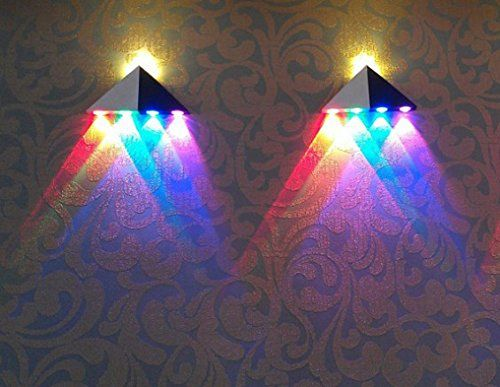 INNORI 5W Led Wall Sconce Lights Aisle Light Bedroom Hote Triangle Shape Decorative  Lights,Multi Colored Light: Amazon.co.uk: Kitchen U0026 Home | Pinterest ...