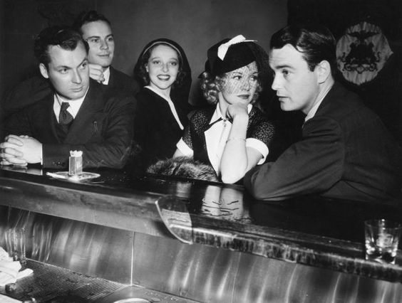 Lew Ayres, Ginger Rogers, Sally Blane, Norman Foster and Russell Gleason: