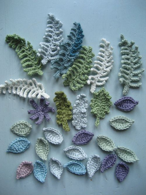 Attic 24 crocheted leaves